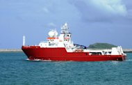 An undated photo obtained on September 29, 2014, shows the Australian-contracted survey ship M/V Fugro Equator, which will help the search for missing flight MH370