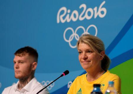 Kitty Chiller, Chef de Mission for Australia at the Rio 2016 Olympic Games, leads a news conference in Rio de Janeiro