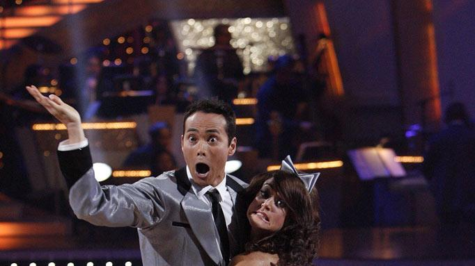 "Mark Dacascos and Lacey Schwimmer perform on ""Dancing with the Stars."""