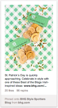 How Brands Use St. Patrick's Day in Their Pinterest Marketing Plan image Screen Shot 2013 03 15 at 3.45.22 PM
