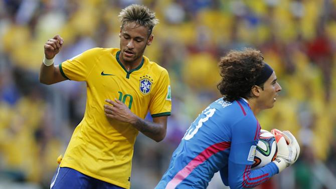 World Cup - Mexico goalkeeping heroics hold hosts Brazil