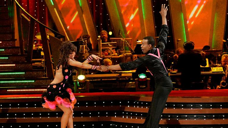 Karina Smirnoff and Mario perform a dance on the sixth season of Dancing with the Stars.