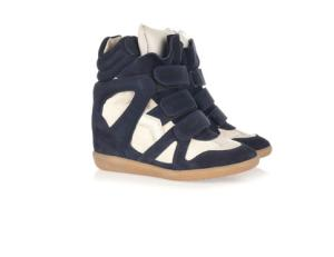 The Isabel Marant high top sneaker, as featured on Polyvore