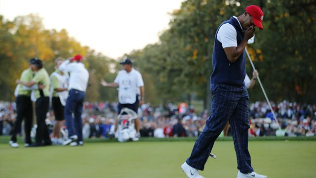 Woods benched for first time at Ryder Cup