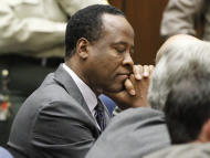 Dr. Conrad Murray closes his eyes after he was sentenced to four years in county jail for his involuntary manslaughter conviction in the death of pop star Michael Jackson on Tuesday, Nov. 29, 2011 in Superior Court in Los Angeles. (AP Photo/Mario Anzuoni, Pool)