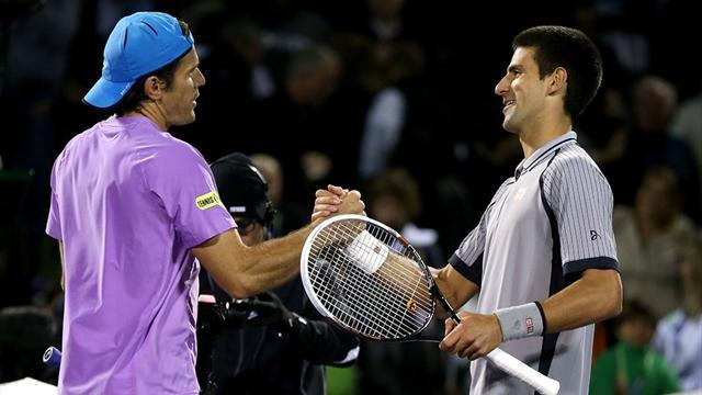 Tennis - Haas stuns Djokovic, Murray through