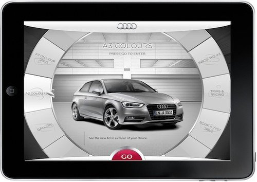 Audi A3 app lets you get inside the car through your iPad. Apps, iPad apps, Audi, Audi A3, Somo 0