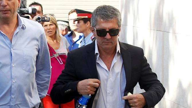 Jorge Horacio Messi, father of Barcelona's soccer player Lionel Messi, arrives in court to answer charges of tax evasion in Gava