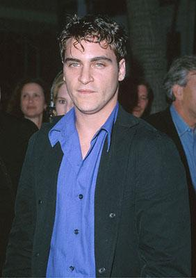 Joaquin Phoenix at the Beverly Hills Academy Theater premiere for Dreamworks' Gladiator