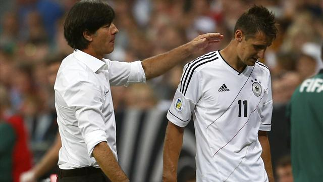 World Cup - Klose equals Mueller's Germany scoring record