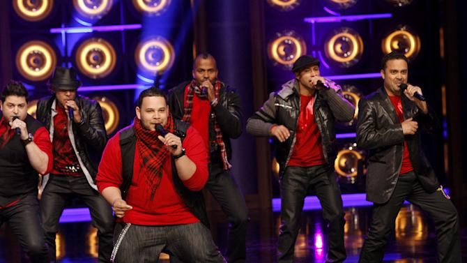 """Nota  on the first season of """"The Sing-Off."""" Nota, originally from San Juan, Puerto Rico, won the first season of """"The Sing-Off."""" This all-male sextet met in college and has been sharing its passion for music ever since. Although the group's members grew up in Puerto Rico with Spanish as their first language, the guys have been exposed to many American groups and have been inspired by some, such as Boyz II Men. They bring imagination, passion, and integrity to their artistry and focus on passionate Latin musical roots while adding different styles like R&B, pop, and fusion jazz."""