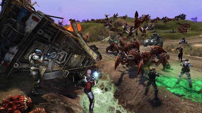 "This video game image released by Trion Worlds shows a scene from ""Defiance."" (AP Photo/Trion Worlds)"