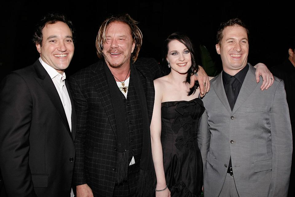 New York Film Festival The Wrestler Premiere 2008 Greg Bello Mickey Rourke Evan Rachel Wood Darren Aronofsky