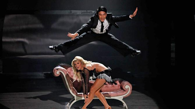 """Marko Germar and All-Star Chelsie Hightower perform a Samba routine to """"Cinema Italiano,"""" choreographed by Jason Gilkison on """"So You Think You Can Dance."""""""