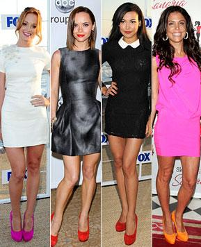 Trend Watch: Stars in Bright-Colored Shoes