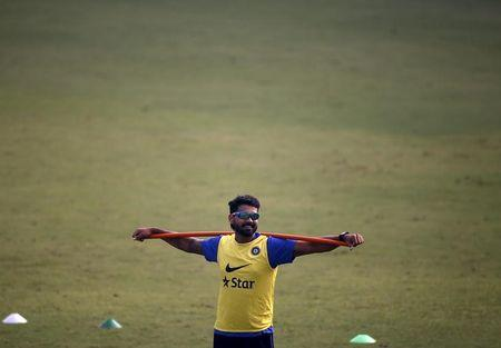 India's Vijay attends a practice session ahead of their fourth and final test cricket match against South Africa in New Delhi