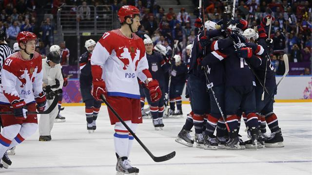 Ice Hockey - Russia united in fury at disallowed goal against USA
