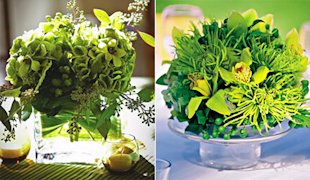 Green Floral Arrangements