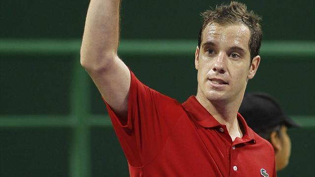 Tennis - Gasquet secures 300th career win in Doha
