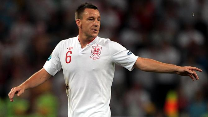John Terry was fully fit at England training on Monday
