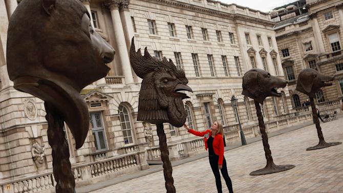 Ai Weiwei's Circle Of Animals/Zodiac Heads At Somerset House