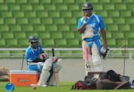 """Bangladeshi cricket captain Mushfiqur Rahim (L) and teammate Tamim Iqbal during a team training session in Dhaka on November 9. """"Our situation isn't good, we play Tests after long gaps. We should have this mentality of adapting ourselves from one format to the other,"""" said Iqbal"""