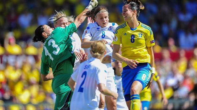 Women's Euro - Sweden romp into semis with rout of Iceland
