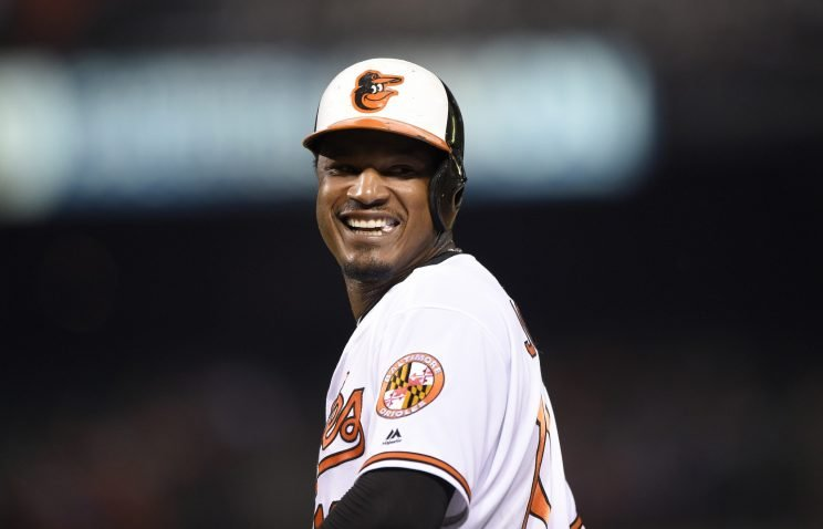 Baltimore Orioles star Adam Jones has a new gig in the hockey word (AP)