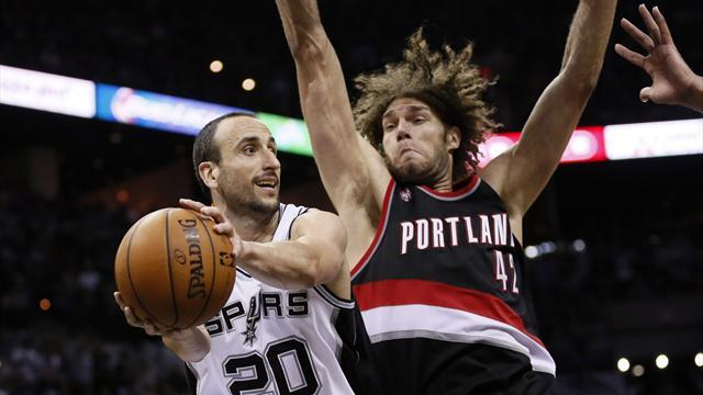 NBA - Dominant Spurs move to brink of sweeping Trail Blazers