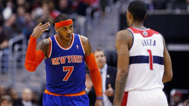 Basketball - Carmelo on form in Knicks win over Wizards