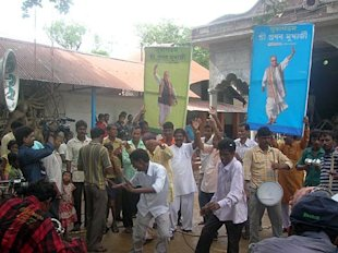 Miriti, Pranab Babu's village, celebrates. Photo: ABP