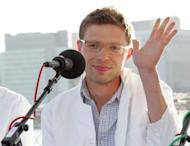 "File photo shows journalist Jonah Lehrer at the ""You and Your Irrational Brain"" panel discussion in New York City in 2008. Lehrer has acknowledged he concocted quotes from Bob Dylan in his best-selling biography of the American folk legend, a magazine article revealed"