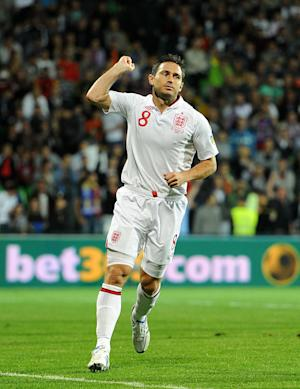 Frank Lampard scored two first-half goals as England cruised to a 5-0 win