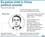 Graphic on former Chongqing police chief Wang Lijun, ex-right-hand man to fallen political star Bo Xilai