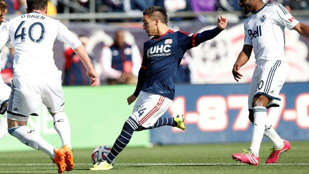 New England Revolution's Diego Fagundez carrying back injury, status in doubt for Sporting KC clash