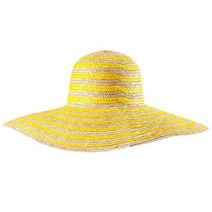 Neon Yellow Straw Hat H&M: Beach