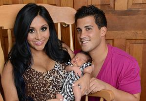 Snooki, Jionni LaValle and their baby Lorenzo | Photo Credits: MTV