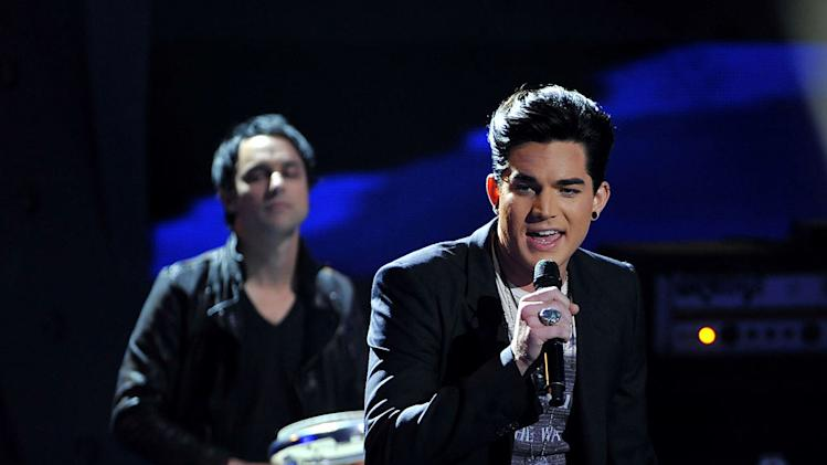 "Adam performs ""Aftermath"" on ""American Idol."""
