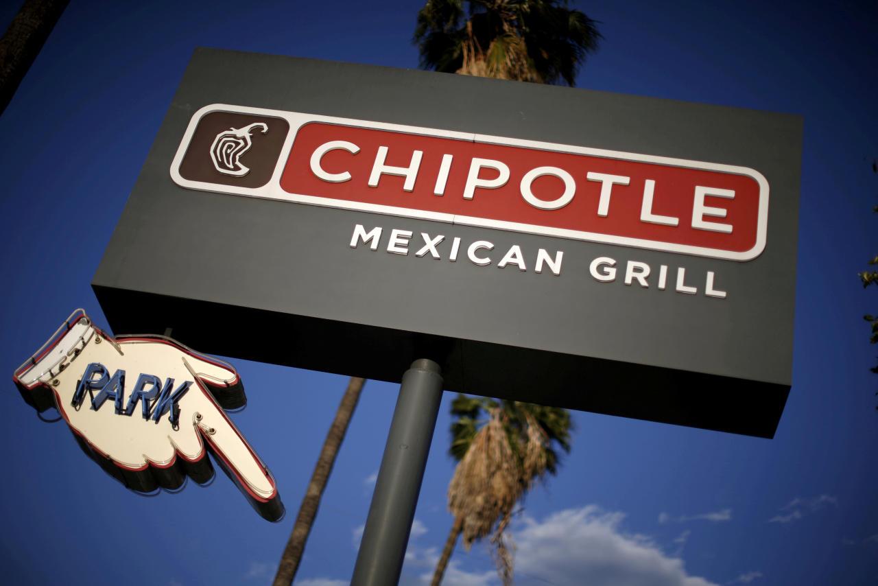 La cadena de restaurantes de comida rápida estadounidense Chipotle Mexican Grill, un 3,4 en Glassdoor, busca ahora mismo gerentes para muchos de sus locales y no exige estudios universitarios a los candidatos. (Foto: Lucy Nicholson / Reuters).