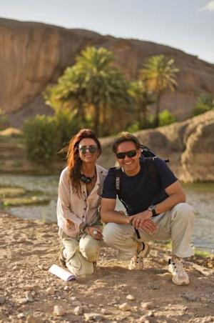 Roma Downey and Mark Burnett work on 'The Bible' for History -- History Channel