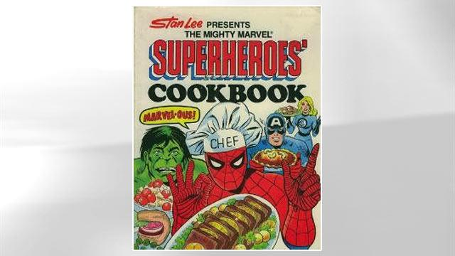 Vintage Cookbook Chronicles What Superheroes Eat