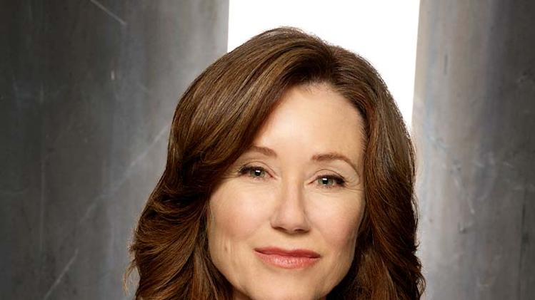 Mary McDonnell as Laura Roslin in Battlestar Galactica on the Sci Fi Channel.