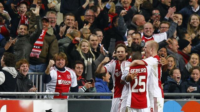 European Football - Ajax beat arch rivals Feyenoord to extend lead at top