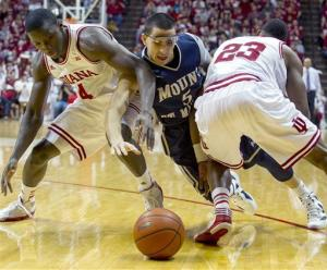 No. 6 Indiana routs Mount St. Mary's 93-54