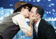 Johnny Depp and Jimmy Kimmel | Photo Credits: Randy Holmes/ABC