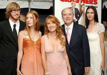 Jane Seymour , husband James Keach and family at the New York premiere of New Line Cinema's Wedding Crashers