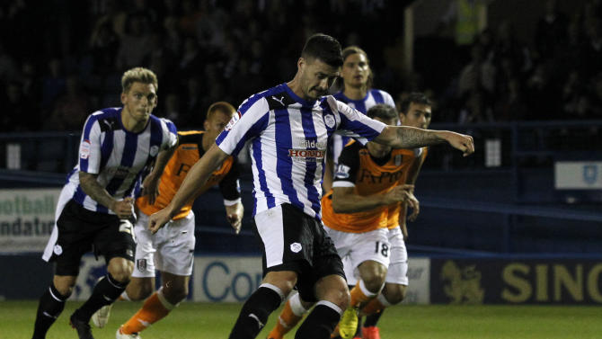 Gary Madine scored the only goal of the game from the penalty spot