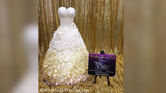 It's a Dress! It's a Cake! It's a Wedding Dress Cake