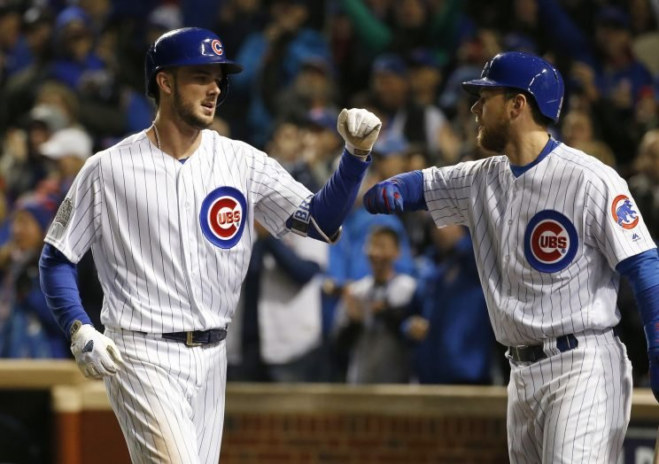 Kris Bryant and Ben Zobrist picked up big hits in the Cubs' Game 5 win. (AP Photo/Nam Y. Huh)