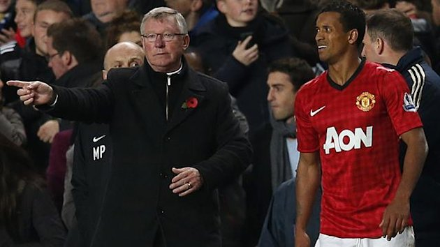 Sir Alex Ferguson, Nani (Reuters)